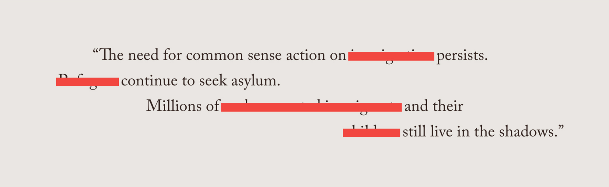 Redacted quotation from The George Gund Foundation annual web design